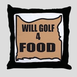Will Golf 4 Food Throw Pillow