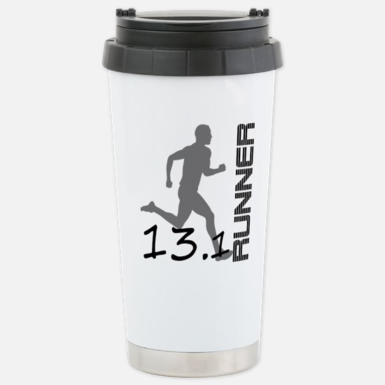 131runner10in Stainless Steel Travel Mug