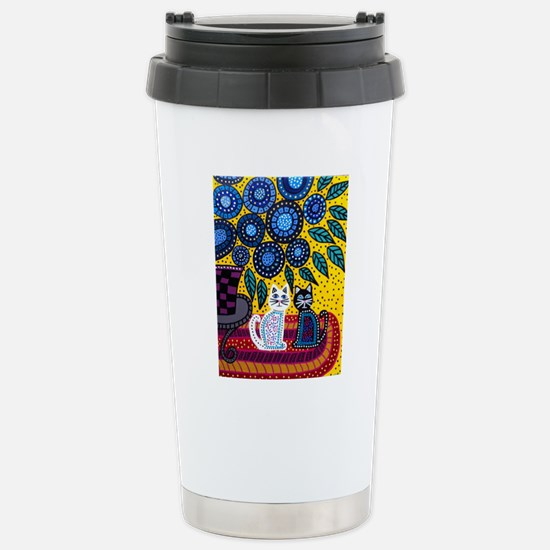 House Cats Stainless Steel Travel Mug