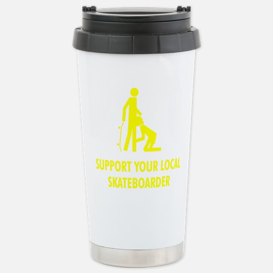 support_yellow Stainless Steel Travel Mug