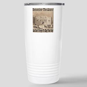 remember_the_alamo_1854 Stainless Steel Travel Mug