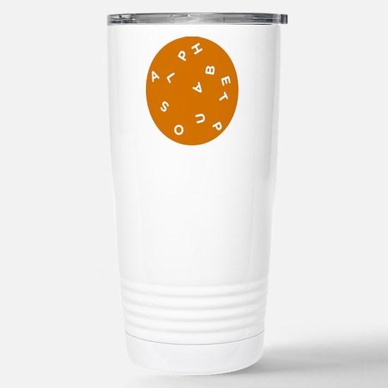 Alphabet Soup 1 Stainless Steel Travel Mug