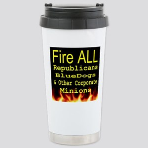 Fire ALL Republicans Stainless Steel Travel Mug