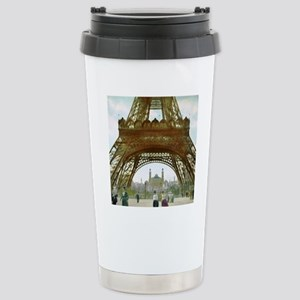 Retro Eiffel tower Stainless Steel Travel Mug