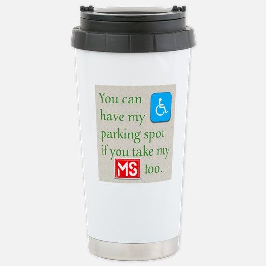 10 x 10 HandicapParking Stainless Steel Travel Mug