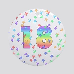 18th Birthday Pastel Stars Ornament (Round)