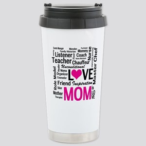Mom is Love - Birthday, Stainless Steel Travel Mug