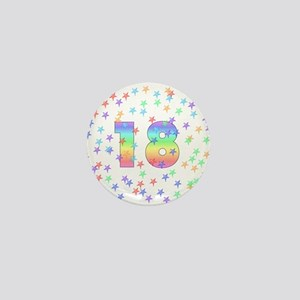 18th Birthday Pastel Stars Mini Button