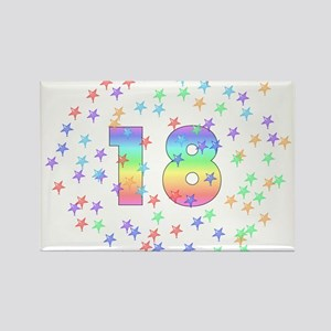 18th Birthday Pastel Stars Rectangle Magnet