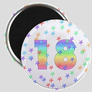 18th Birthday Pastel Stars Magnet