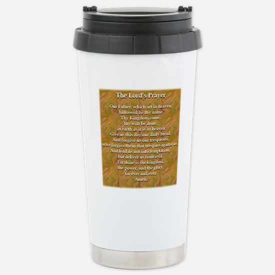 Lords Prayer_white on w Stainless Steel Travel Mug