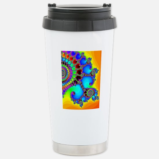 Colorful Coastline Stainless Steel Travel Mug