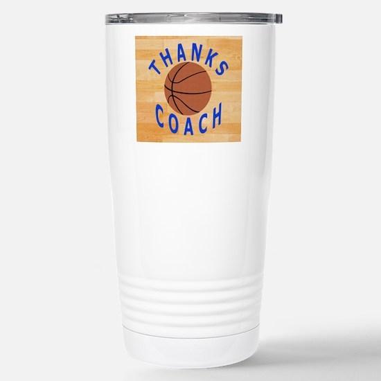 Thanks Basketball Coach Stainless Steel Travel Mug