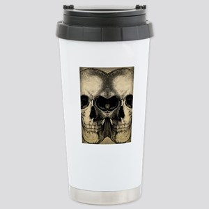 vintage_skull_flipflops Stainless Steel Travel Mug