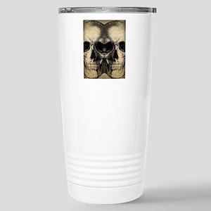 vintage_skull_flipflops Stainless Steel Travel Mug