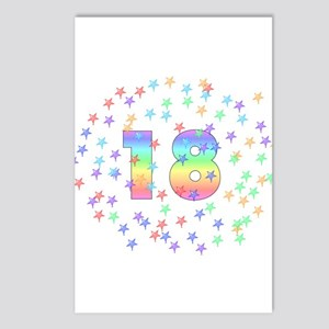18th Birthday Pastel Stars Postcards (Package of 8