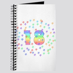 18th Birthday Pastel Stars Journal