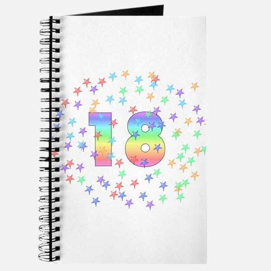18th Birthday Pastel Stars Journal