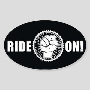 Ride On Oval Sticker