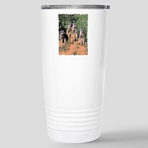 MEERKAT FAMILY PORTRAIT Stainless Steel Travel Mug