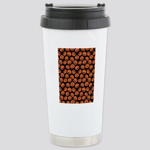 Halloween Pumpkin Flip  Stainless Steel Travel Mug