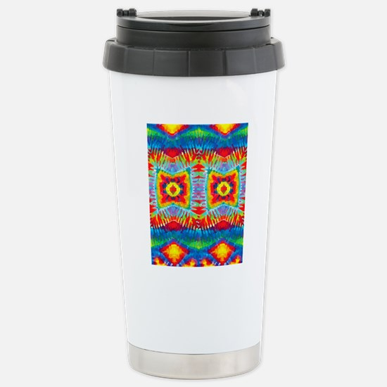 Colorful Tie-Dye Stainless Steel Travel Mug