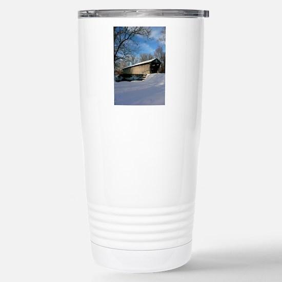Covered Bridge Stainless Steel Travel Mug