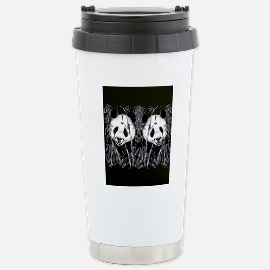 panda_flip_flops Stainless Steel Travel Mug