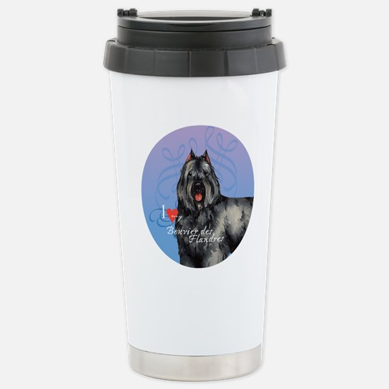 bouvier-button Stainless Steel Travel Mug