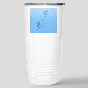 Dandelion on Baby Blue- Stainless Steel Travel Mug