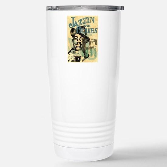 jazzin the blues framed Stainless Steel Travel Mug