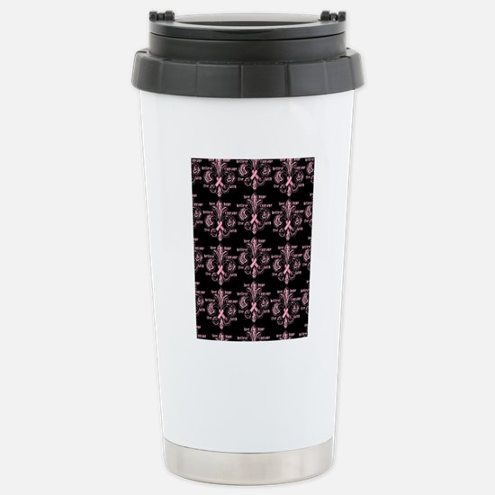 fleurPinkRibbonWdBP460i Stainless Steel Travel Mug