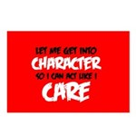 Like I Care Black-White Postcards (Package of 8)