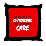 Like I Care Black-White Throw Pillow