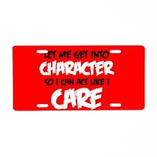 Like I Care Black-White Aluminum License Plate