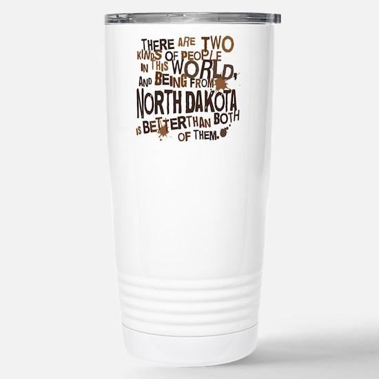 northdakota_brown Stainless Steel Travel Mug