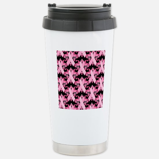 PinkribbonLLLpBsq Stainless Steel Travel Mug
