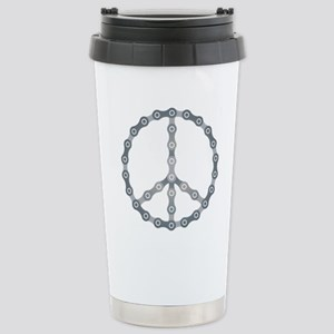 peace chain drk Stainless Steel Travel Mug