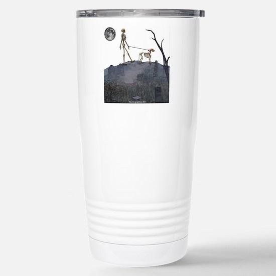 skeleton dog person Stainless Steel Travel Mug