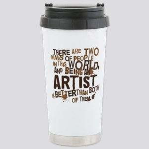artist_brown Stainless Steel Travel Mug