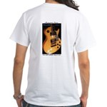 Front And Back Raven West Guitar White T-Shirt