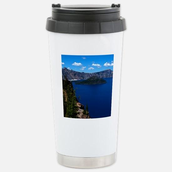 (15s) Crater Lake  Wiza Stainless Steel Travel Mug