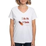 I Ate Me A Cicada Women's V-Neck T-Shirt