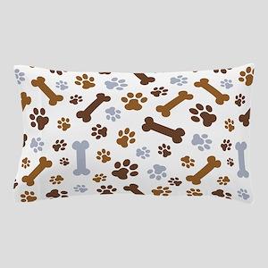 Dog Paw Prints Pattern Pillow Case