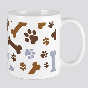 Dog Paw Prints Pattern Mug