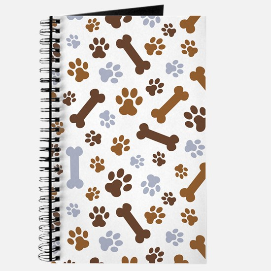 Dog Paw Prints Pattern Journal