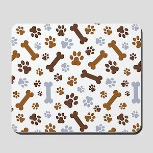Dog Paw Prints Pattern Mousepad