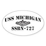 USS MICHIGAN Sticker (Oval)