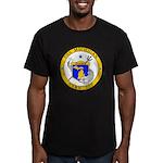USS MICHIGAN Men's Fitted T-Shirt (dark)