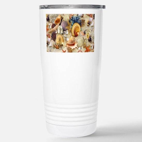 seashells Stainless Steel Travel Mug